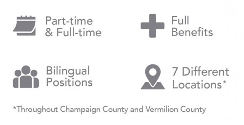 7 Different Locations, Part/Full Time, Full Benefits, Bilingual