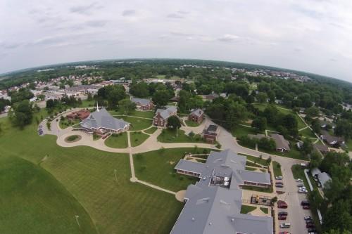 Arial image of Cunningham Campus