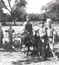 Don Pittman, pictured far left, during his time at Cunningham